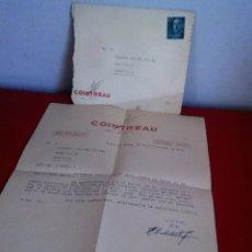 Cartas comerciales: LICOR COINTREAU ( BARCELONA) 1958. CARTA Y SOBRE COMERCIAL. Lote 161920902