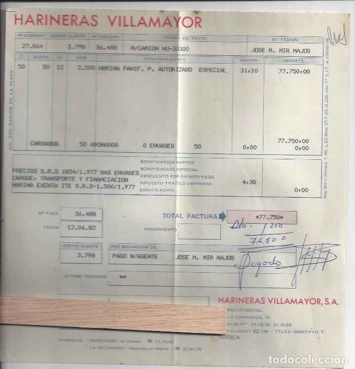 Cartas comerciales: LOTE 6 DOCUMENTOS VARIOS FABRICANTES DE PAN / PANADERIAS. Años 70/80. Prov. Huesca - Foto 4 - 162926118