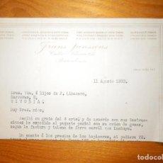Cartas comerciales: ANTIGUA CARTA COMERCIAL - FRANS JANSSENS - BARCELONA - AÑO 1920. Lote 163389230