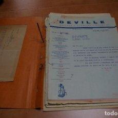 Cartas comerciales: LOTE CARTAS COMERCIALES, LISTAS DE PRECIOS DE DEVILLE (S.BONINO BARBERIS) A JUAN COMPANY (MOTORES). Lote 164943758