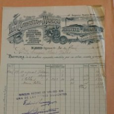Cartas comerciales: LA COMPAÑÍA DE MADERAS, IMAGEN DE LA FÁBRICA. MADRID, SANTANDER, BILBO, GIJON AVILES, SAN SEBASTIAN. Lote 165265410