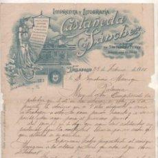 Cartas comerciais: IMPRENTA Y LITOGRAFÍA CATAÑEDA Y SÁNCHEZ. VALLADOLID. TARJETAS, ETIQUETAS, ETC FIRMA PROPIETARIO. Lote 165267538