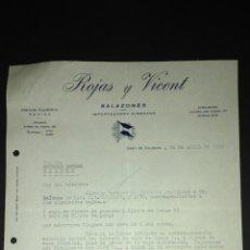 Cartas comerciales: CARTA COMERCIAL. ROJAS Y VICENT. SALAZONES. VALENCIA.. Lote 165713330