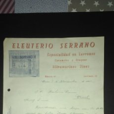 Cartas comerciales: CARTA COMERCIAL. TURRONES Y DULCES. ALCAÑIZ. TERUEL.. Lote 166610952