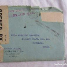 Cartas comerciales: CARTA COMERCIAL. HABANA. CUBA. 1940. N. GELATS Y CIA.. Lote 166961332