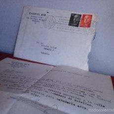 Cartas comerciales: BOTELLAS VACÍAS. GABRIEL MIR. ( BARCELONA) 1966. Lote 167534629