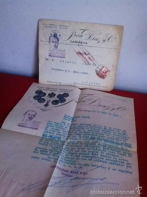 Cartas comerciales: Bodega de Vinos y Finos de Moriles. LUCENA( Córdoba) 1956 - Foto 3 - 167535681