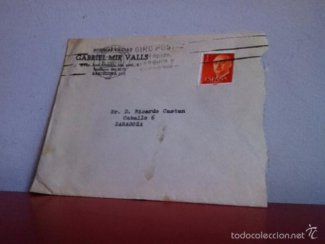 Cartas comerciales: Botellas Vacías GABRIEL MIR VALLS ( Barcelona) 1962 carta y sobré comercial - Foto 2 - 167721798