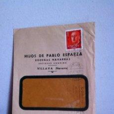 Cartas comerciales: BODEGAS NAVARRAS( HIJOS DE PABLO ESPARZA) 1960 VILLAVA( NAVARRA). Lote 167722817