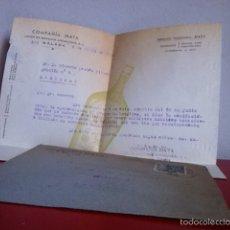 Cartas comerciales: COMPAÑÍA MATA( UNÍON DE BODEGAS ANDALUZAS) MÁLAGA 1946. Lote 167723516