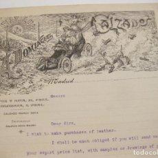 Cartas comerciales: CARTA DE CALZADOS DOMINGUEZ. MADRID. COCHE EN FORMA DE ZAPATO.. Lote 168326708