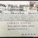 Cartas comerciales: JUAN REIG MIRÓ - COMISIONISTA DE ADUANAS - ALICANTE - CIRCULADA 1947. Lote 168417412