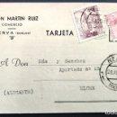 Cartas comerciales: RAMÓN MARTÍN RUIZ - COMERCIAL - NERVA (HUELVA) - CIRCULADA 1947. Lote 168417468