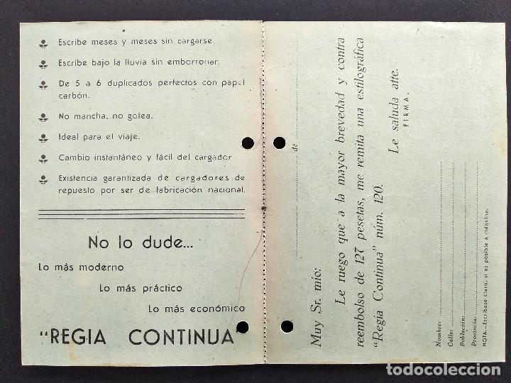 Cartas comerciales: LUCIANO JUBERT - MADRID - ESTILOGRÁFICA REGIA CONTINUA - TARJETA DOBLE - Foto 2 - 168418088