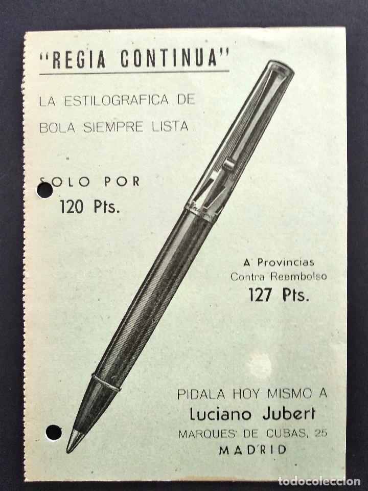 Cartas comerciales: LUCIANO JUBERT - MADRID - ESTILOGRÁFICA REGIA CONTINUA - TARJETA DOBLE - Foto 3 - 168418088