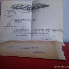 Cartas comerciales: CARBONELL Y CIA . CÓRDOBA. 1957. VINOS Y COÑACS. Lote 168710920
