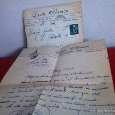 Cartas comerciales: CAFÉ BRASIL . CASTEJON ( NAVARRA) 1955. Lote 168715026