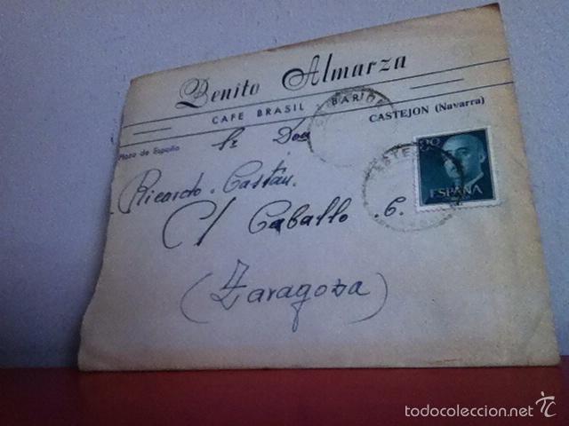 Cartas comerciales: CAFÉ BRASIL . CASTEJON ( Navarra) 1955 - Foto 2 - 168715026