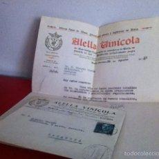 Cartas comerciales: ALELLA VINICOLA. ALELLA ( BARCELONA) 1955. Lote 168715504