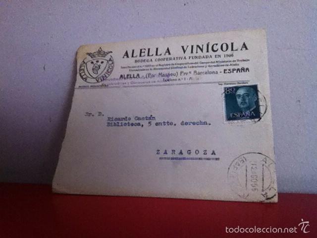 Cartas comerciales: ALELLA VINICOLA. ALELLA ( Barcelona) 1955 - Foto 2 - 168715504