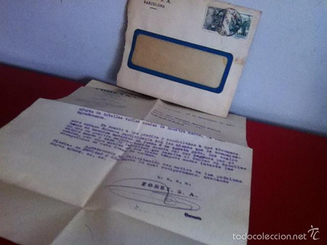 FORET S.A. ( BARCELONA) 1951 (Coleccionismo - Documentos - Cartas Comerciales)