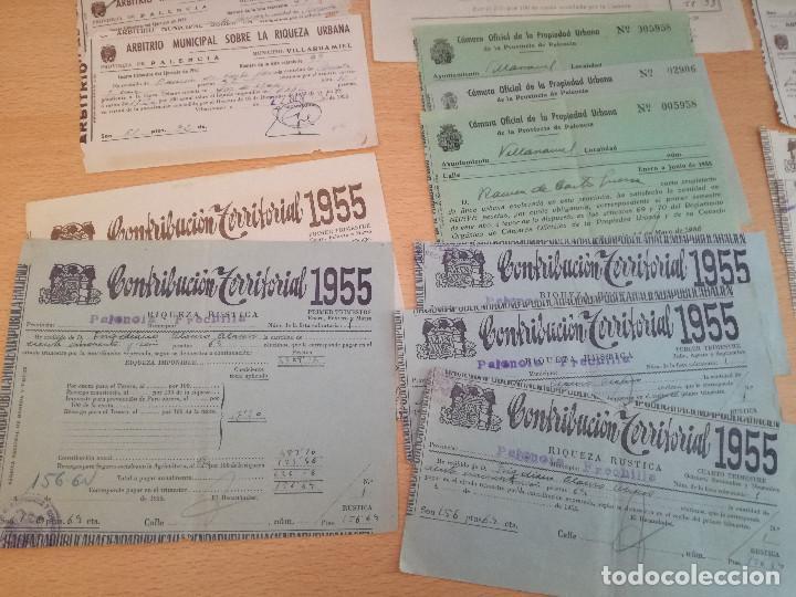 16 DOCUMENTOS AÑOS 50, DE PAGO DE DISTINTOS TRIBUTOS, VER FOTOS. (Coleccionismo - Documentos - Cartas Comerciales)