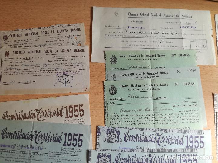 Cartas comerciales: 16 documentos años 50, de pago de distintos tributos, ver fotos. - Foto 3 - 169031012