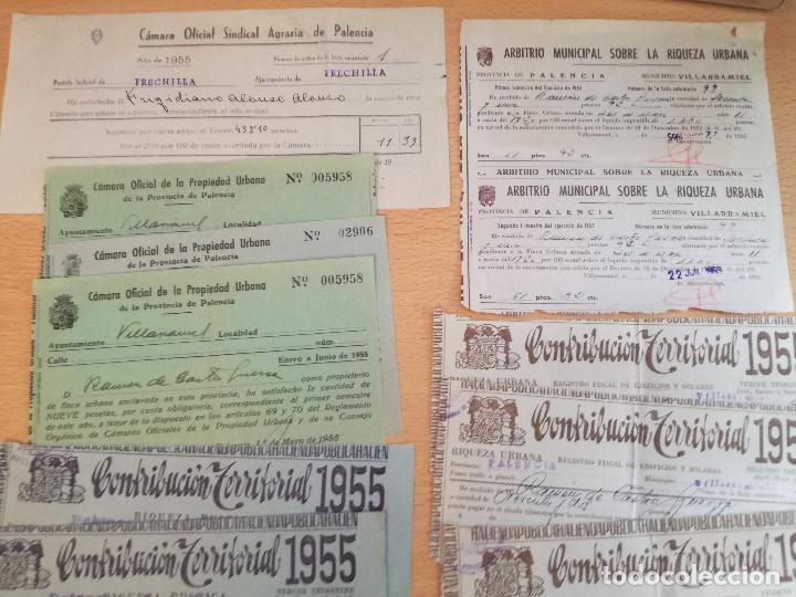 Cartas comerciales: 16 documentos años 50, de pago de distintos tributos, ver fotos. - Foto 4 - 169031012