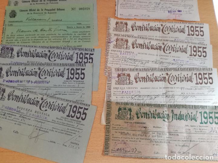 Cartas comerciales: 16 documentos años 50, de pago de distintos tributos, ver fotos. - Foto 5 - 169031012