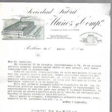 Cartas comerciales: CARTA COMERCIAL. SOCIEDAD FABRIL MUÑOZ Y COMPª. POZOBLANCO. 1920. CON PRECIOS DE BAYETAS. Lote 169280848