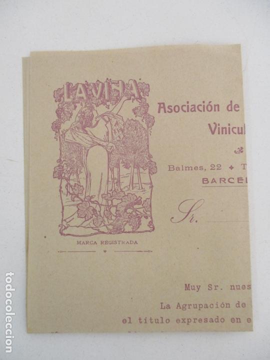 Cartas comerciales: Carta Asociación de Propietarios Vinicultores - La Viña - Vinos selectos, Aceites Finos - Foto 3 - 169581848