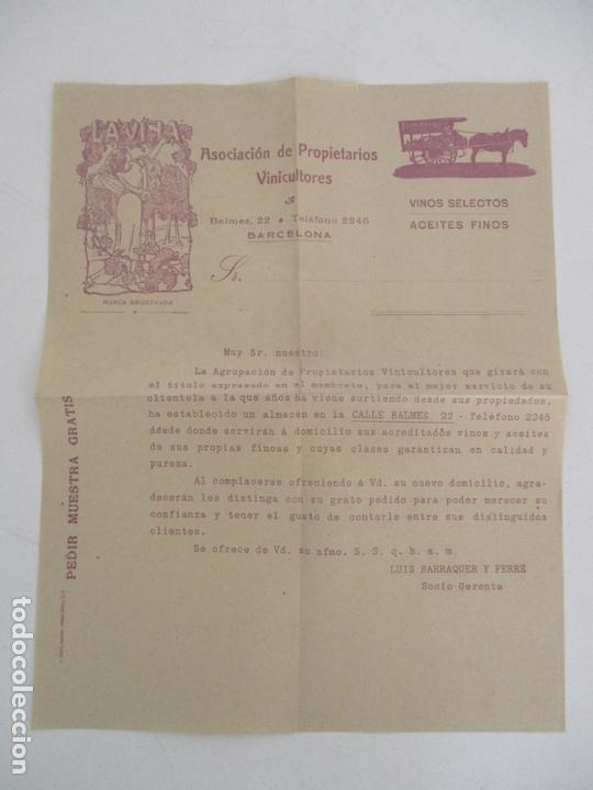 Cartas comerciales: Carta Asociación de Propietarios Vinicultores - La Viña - Vinos selectos, Aceites Finos - Foto 5 - 169581848