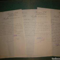 Cartas comerciales: CAFÉS SAIMAZA. COSECHEROS, ACEITES Y ACEITUNAS. SEVILLA. 1942/43. Lote 169765904