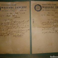 Cartas comerciales: ALMACÉN QUESOS Y LEGUMBRES MARIANO SÁNCHEZ. PRIMERA CASA QUESO CENTRO LA MANCHA. 1942. Lote 169766518