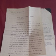 Cartas comerciales: COTO MINERO DE LAS MENAS SERÓN ALMERÍA. CARTA COMERCIAL. Lote 170143016