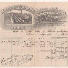 Cartas comerciais: SOCIEDAD DE TEJIDOS DE LINO DE RENTERÍA. FABRICACIÓN DE RETORTAS. GUIPUZCOA.. Lote 170112708