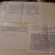 Cartas comerciales: 1933 LUGO ECONOMATO ULTRAMARINOS SANTO DOMINGO VALORACIÓN POPRIEDAD. Lote 170336185