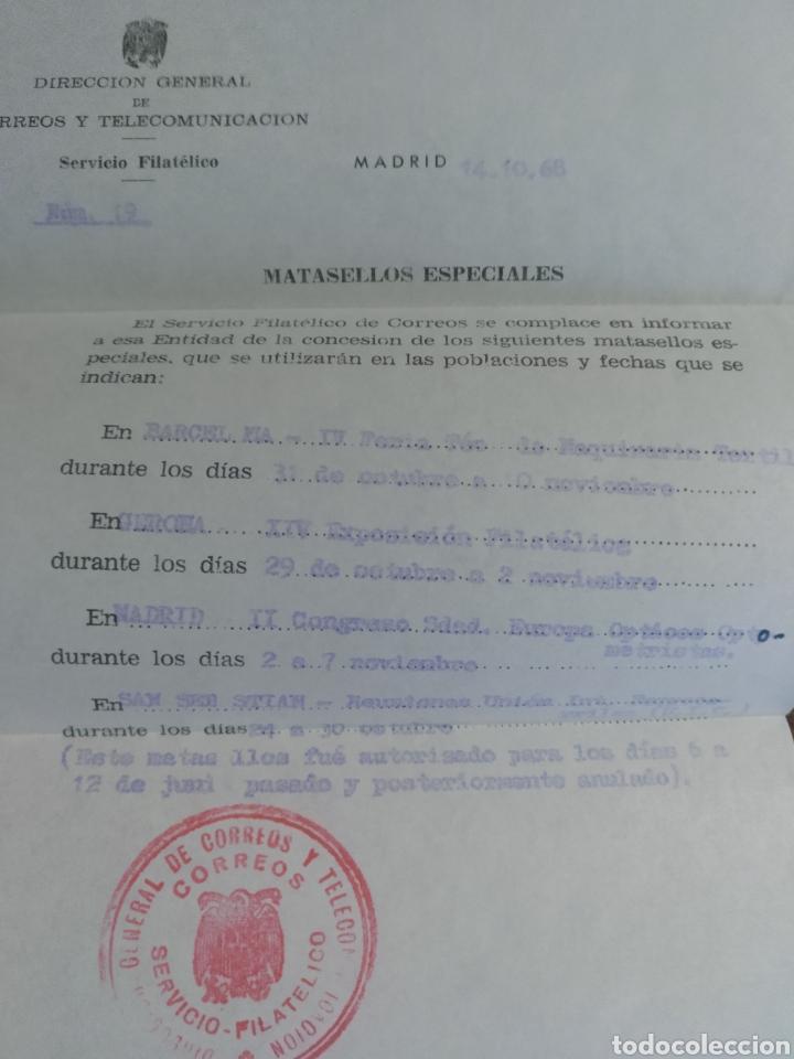 Cartas comerciales: Carta Sección filatélica provisión Almería 1968. IV Congreso Mundial Psiquiatría Matasellos especial - Foto 3 - 170557816