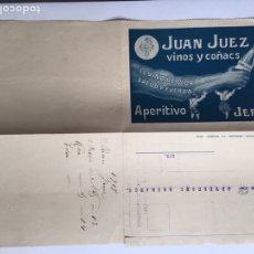 Cartas comerciales: CARTA GIRO POSTAL AÑO 1917 JUAN JUEZ ALMACENISTA Y EXPORTADORES DE VINO. Lote 171634763