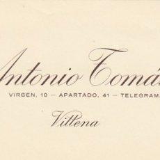 Cartas comerciales: VILLENA (ALICANTE) CABECERA CARTA COMERCIAL ANTONIO TOMAS CONCA VINOS. Lote 173811922