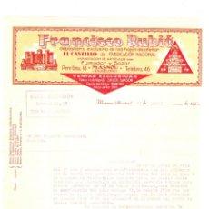Cartas comerciales: CARTA COMERCIAL. HOJAS DE AFEITAR. FRANCISCO RUBIO. MASNOU, BARCELONA, 23 DE ABRIL DE 1935.. Lote 174364967