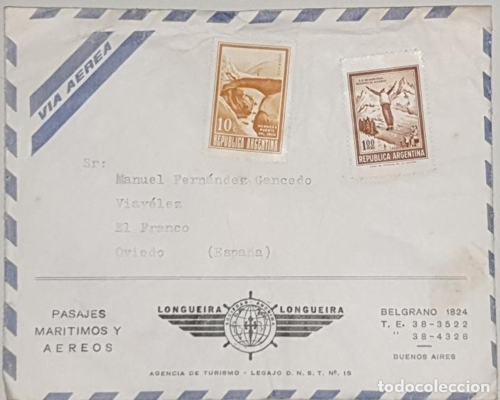 SOBRE Y CARTA COMERCIAL LONGUEIRA,LONGUEIRA. BUENOS AIRES,1973 (Coleccionismo - Documentos - Cartas Comerciales)