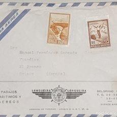 Cartas comerciales: SOBRE Y CARTA COMERCIAL LONGUEIRA,LONGUEIRA. BUENOS AIRES,1973. Lote 175680099