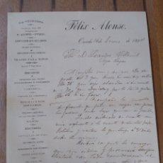 Cartas comerciales: FÉLIX ALONSO LA VICTORIA SASTRERÍA OVIEDO. ASTURIAS FIRMA PROPIETARIO. Lote 175849109