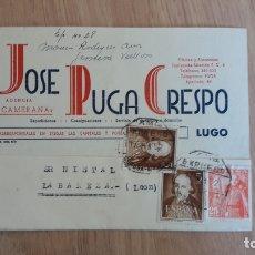 Cartas comerciales: TARJETA POSTAL COMERCIAL DE JOSE PUGA DE LUGO. Lote 176119137
