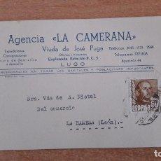 Cartas comerciales: TARJETA POSTAL COMERCIAL DE LA CAMERANA DE LUGO. Lote 176119432