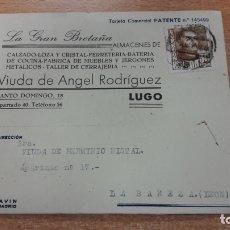 Cartas comerciales: TARJETA POSTAL COMERCIAL DE ALMACENES LA GRAN BRETAÑA DE LUGO. Lote 176119603