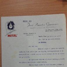 Cartas comerciales: CARTA COMERCIAL HIJO DE JOSE PUENTES GUERREIRO DE LUGO. Lote 176122704