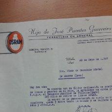 Cartas comerciales: CARTA COMERCIAL HIJO DE JOSE PUENTES GUERREIRO DE LUGO. Lote 176122784