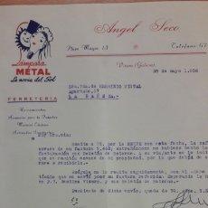 Cartas comerciales: CARTA COMERCIAL ANGEL SECO DE LUGO. Lote 176122954